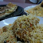 Nasi briyani and murtabak