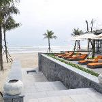 lounging area facing the ocean