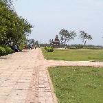 View of the gardan with the temple