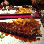 BBQ ribs and mixed grill