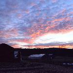Winter sunrise over the farm