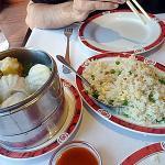 Bouchées crevettes vapeur et riz cantonnais