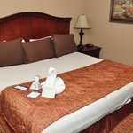 Rooms are nicely appointed and clean, although a bit small.