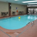 A salt-water pool is available for relaxing.