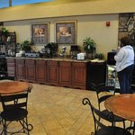 Overall view of the breakfast area.