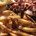 BBQ brisket with French fries