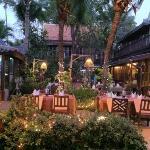 Romantic open-air restaurant