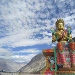 maitreya buddha statue near the Gompa