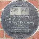 On the wall of the maternity hospital where John was born.