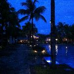 main pool after dusk