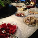 salad bar at lunchtime