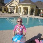 my daughter by the pool