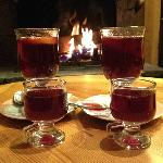 Vin chaud in the lounge