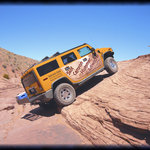 The amazing Hummer acsending out of the canyon.