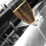 Champagne at the hotel bar