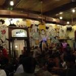 Panoramic view of the interior of Cafe Mondegar