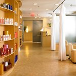 Ocean Palm Spa- Reception & Product Wall