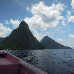 The Pitons.