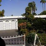 Marilyn Monroe's garage and gardens.