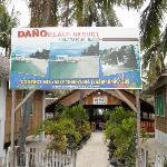 Main entrance to Dano Beach Resort
