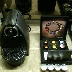 complimentary nespresso coffee machine and capsules