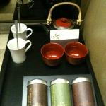 complimentary chinese tea set