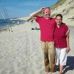 Your hosts on a rare break in Arcachon