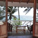 From the inside of one of our beachfront cottages.