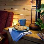 A perfect spot to cozy up with the best coffee & cookies ever!