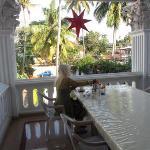 Tea on veranda in the afternoon