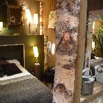 Chambre Natura avec salle de bains ouverte