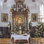 Church interior at Christmas