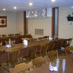 One of the downstairs dining rooms at Hershey Farm.
