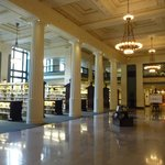 The main hall as you enter the Library.