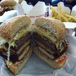 the mt Fuji burger with nori seasoned fries