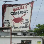 Bentley Crab House Sign on Ella Drive off the West End Rd