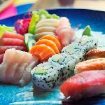 Combinacion de Sushi y Sashimi