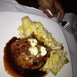 Pork chop with corn risotto