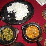Chicken Korma and Aloor Paneer