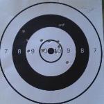 Hand gun target