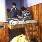 Kids enjoying on their special bed