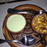 Roasted corn nuts and sauce