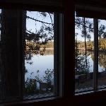 Blick von Cabin 3 auf den See