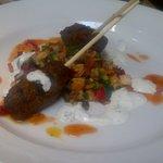 Moroccan lamb koftas, fattoush salad, tzatziki