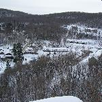 The view of the resort from the trails
