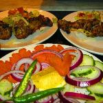 Kebabs! with fresh salad