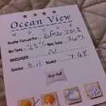 Wetterbericht im Ocean View House