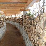 Der Weg zur Sauna