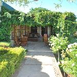 patio and way to the dining hall