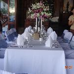 Wedding Reception Table & Staff at Baan Yin Dee Resort